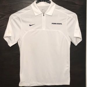 Nike Dri-Fit Penn State Polo Shirt Quarter Zip up